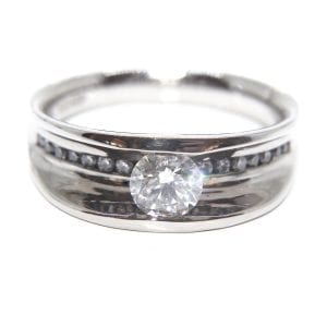 18k White Gold Diamond Flow Engagement Ring
