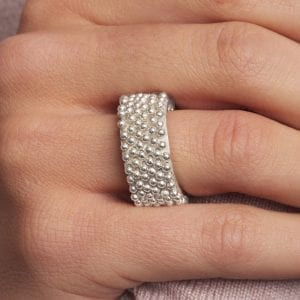 Sterling Silver Igel 7 Ring