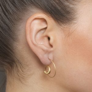 18k Yellow Gold Spiral Earrings