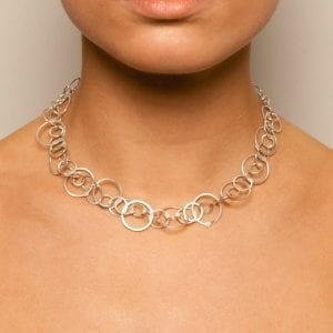 Sterling Silver Queue A Necklace