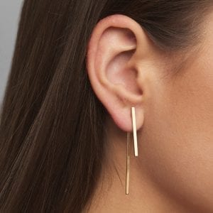 18k Yellow Gold Between Earrings