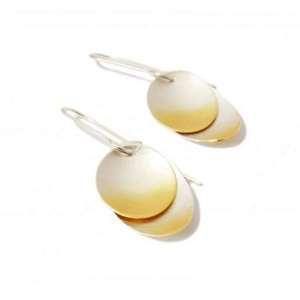 Electra Double Gold Plated Silver Hook Earrings