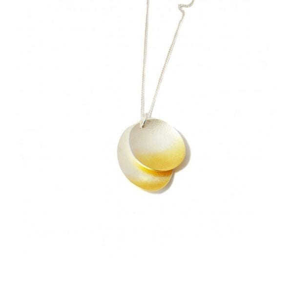 Electra Double Layer Yellow Gold Plated Silver Necklace