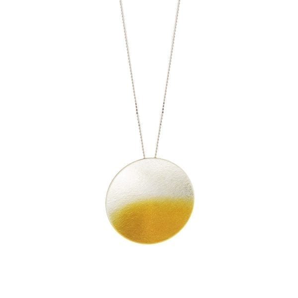 Electra Large 24k Yellow Gold Plated Silver Necklace