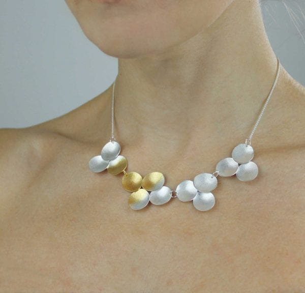Electra Articulated Yellow Gold Plated Silver Necklace