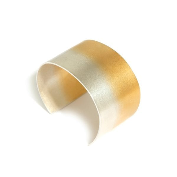 Electra Wide Yellow Gold Plated Silver Bracelet