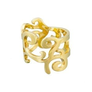 9k Yellow Gold Curly Dream Ring