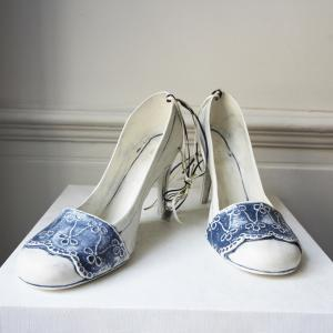 Ceramic Blue Lace Shoes