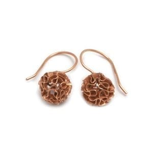 14k Rose Gold Coral Earrings