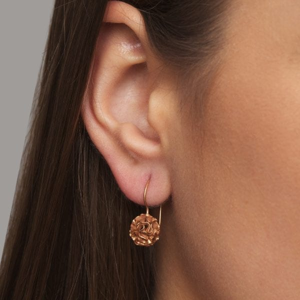 14k Rose Gold Coral Earrings