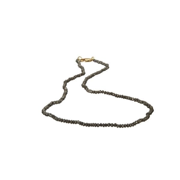18k Yellow Gold Black Diamond Necklace