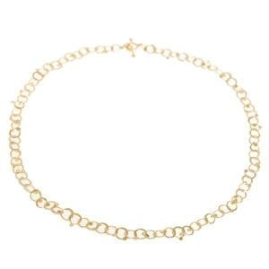 contemporary jewellery dublin ireland designyard 14k Yellow Gold Drops Necklace