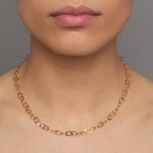 14k Yellow Gold Drops Necklace
