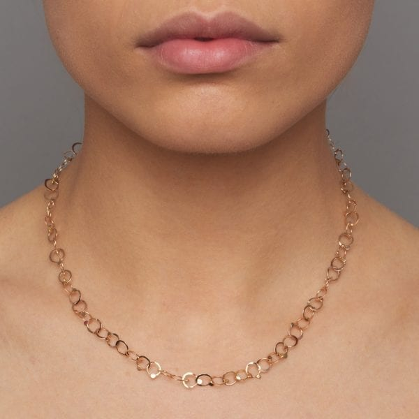 14k Rose Gold Drops Necklace