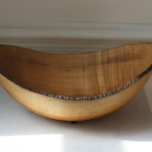 Ash Bowl with Burnt Rim