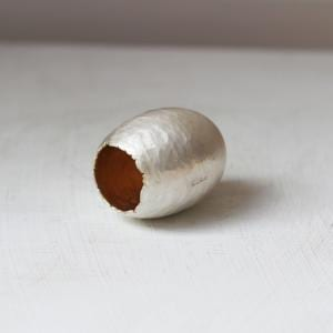 Silver Hammered Side Gum Nut Vessel