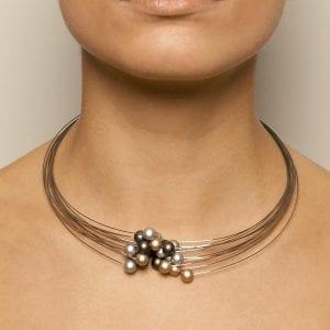 Interlocking Bead Steel Aluminium Necklace