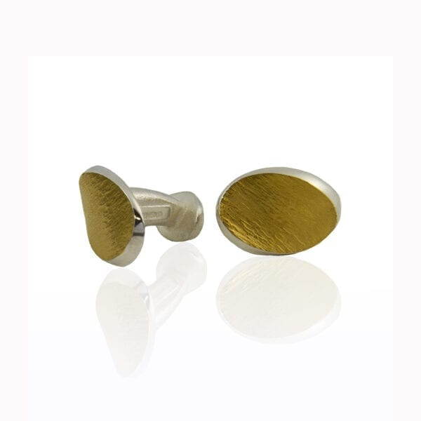 seamus gill irish jewellery designer 22k yellow gold plated silver flowing curves cufflinks designyard contemporary jewellery gallery dublin ireland paris rome milan singapore munich oslo zurich geneva geneve venice new york hong kong manhattan miami beverly hills los angeles san francisco the bay area silicon valley potrero hill twin peaks pacific heights presidio heights haight-ashbury noe valley