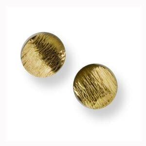 seamus gill irish jewellery designer 22k yellow gold plated silver flowing curves round stud earrings designyard contemporary jewellery gallery dublin ireland monaco paris rome milan venice zurich geneva manhattan new york the hamptons miami beverly hills