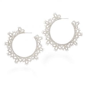 Silver Juanita Hoop Earrings Designyard