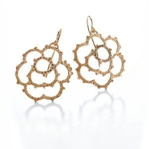 18k Rose Gold Cognac Diamond La Traviata Earrings Designyard