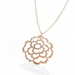 18k Rose Gold La Traviata Diamond Necklace DesignYard
