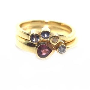 18k Yellow Gold Comet Set Engagement Ring DesignYard