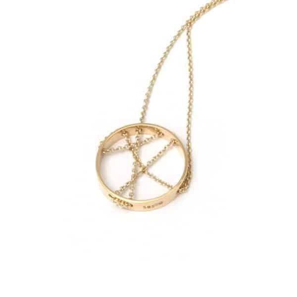 14k Yellow Gold Crossing Path Necklace DesignYard