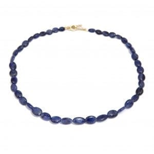 18k Yellow Gold Sapphire Bead Necklace DesignYard