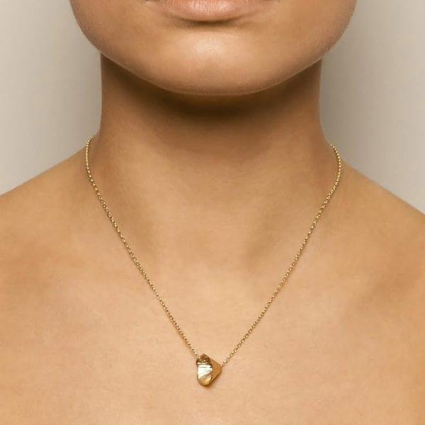 contemporary necklace gold martina hamilton designyard