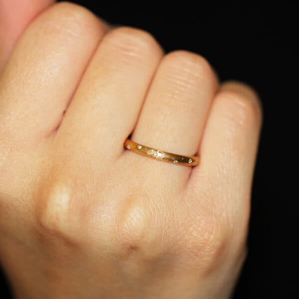 meister 18k rose gold diamond constellation ring designyard contemporary jewellery gallery dublin ireland handmade jewelry