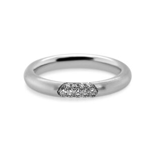 meister platinum diamond pave ring designyard contemporary jewellery gallery dublin ireland handmade jewelry design designer irish jewellers shop