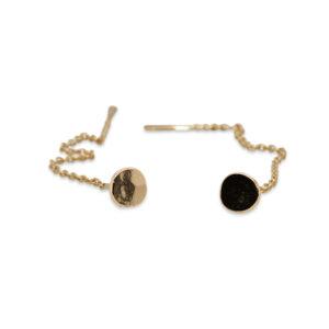 neeljte huddleston slater 14k yellow gold dot chain earring designyard contemporry jewellery gallery dublin ireland