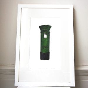 Dublin Pillar Box Screen Print Framed Pieces DesignYard