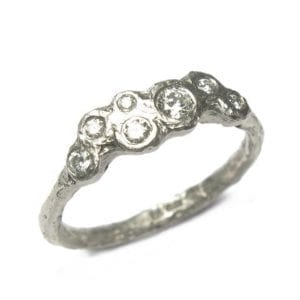 18k White Gold 7 Diamond Engagement Ring DesignYard
