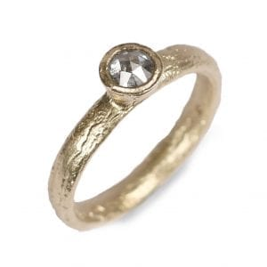 9k Yellow Gold Salt and Pepper Diamond Etched Engagement Ring Designyard