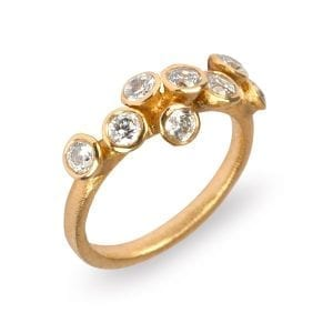 18k Yellow Gold 8 Diamond Engagement Ring DesignYard
