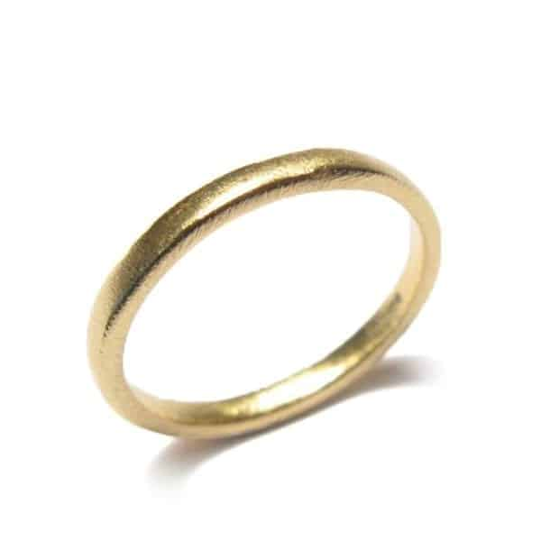 18k Yellow Gold Smooth Wedding Ring DesignYard