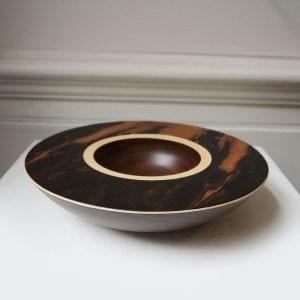 Walnut Sycamore Layered Wooden Bowl Designyard