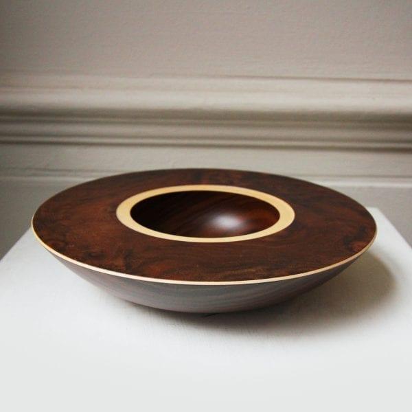 Walnut Sycamore with Burr Walnut Veneer Layered Wooden Bowl Designyard