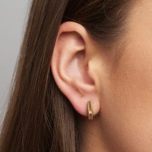 Silver 22k Yellow Gold Diamond Shell Stud Earrings DesignYard