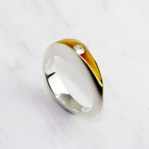 contemporary rings engagement silver yellow gold paul finch designyard