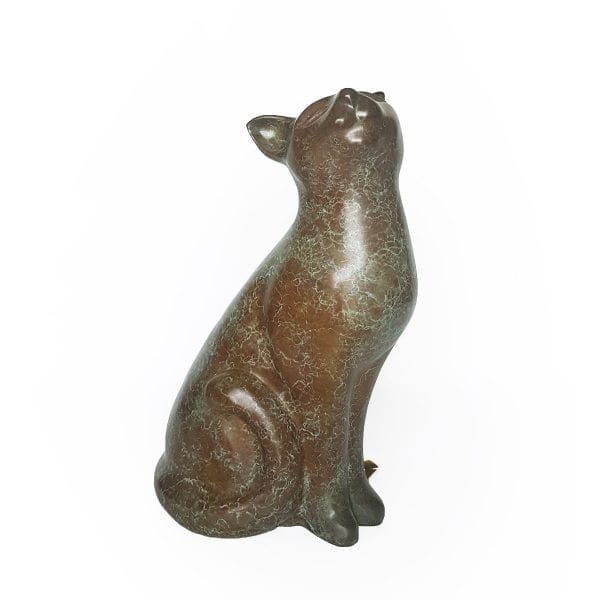 Calico Cat Bronze Sculpture DesignYard