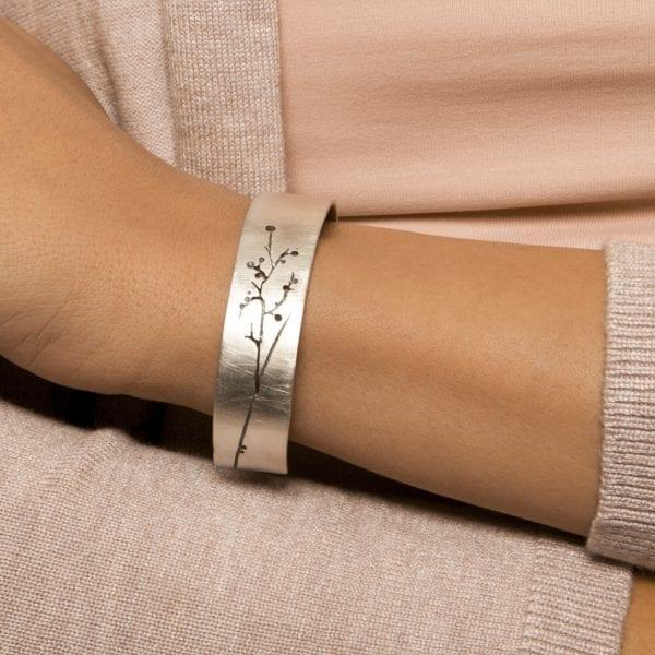 Silver Blossom Bangle DesignYard