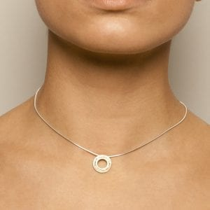 Silver 22ct Gold Etched Detail Necklace DesignYard