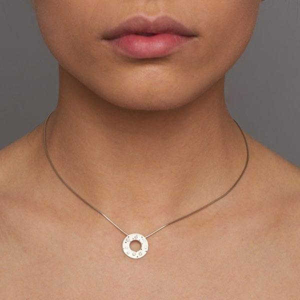 Diamond Silver Polo Necklace DesignYard