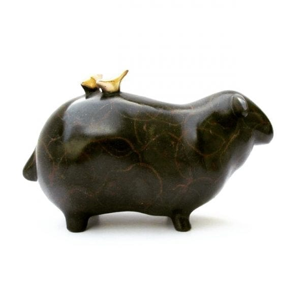 Flock Black Sheep Bronze Sculpture DesignYard