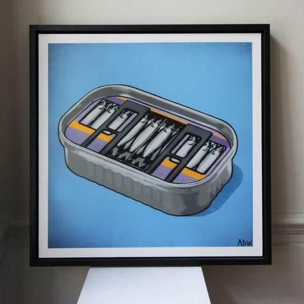 Sardines On The Luas Framed Canvas DesignYard