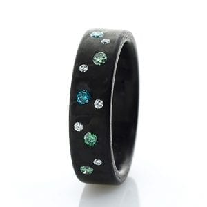 Diamond Carbon Ocean Ring DesignYard