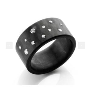 Diamond Carbon Stardust Ring DesignYard